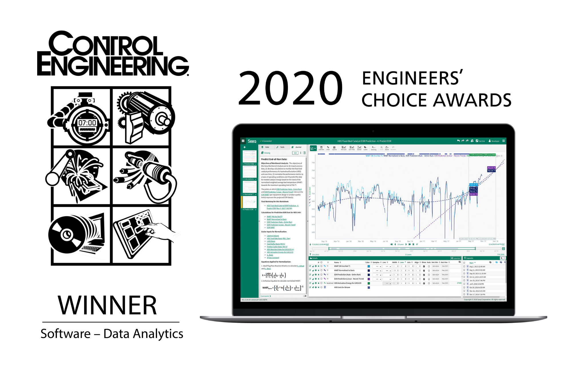 Seeq-Control Engineering 2020 Engineers Choice Award press release image