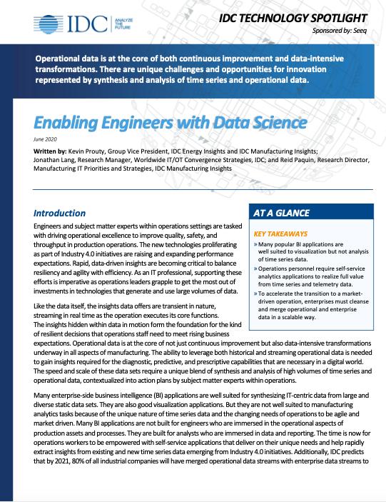 Enabling Engineers with Data Science