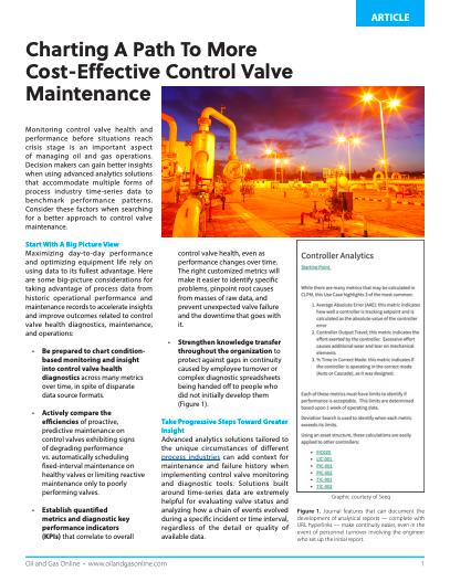 Cost-Effective Control Valve Maintenance